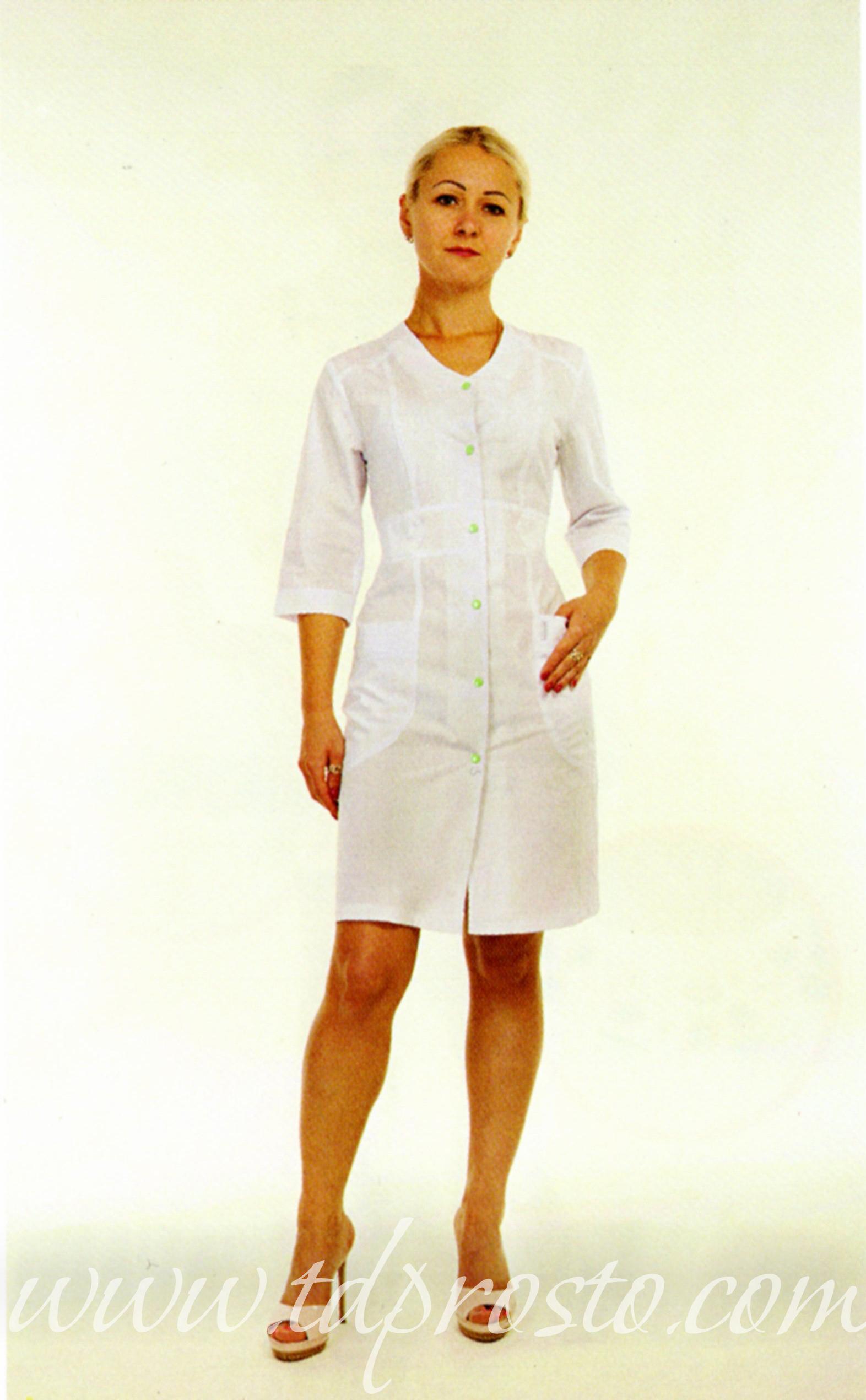 Халат медичний жіночій батист 21Х791 – Prosto – Модельний медичний ... 45d22e2c8f8dc